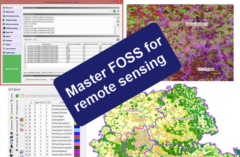 Remote sensing with FOSS